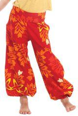Pantalon Orange pour Fille Bouffant Ethnique et Coloré Chaca 280096