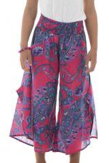 Pantalon original avec ouvertures aux jambes et imprimés Samy 294109