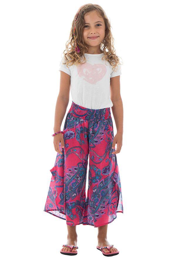 Pantalon original avec ouvertures aux jambes et imprimés Samy 294110