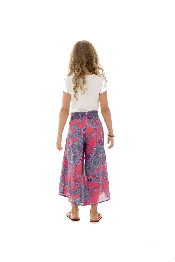 Pantalon original avec ouvertures aux jambes et imprimés Samy 294111