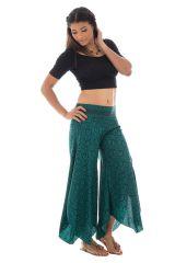 Pantalon original avec pans en pointe asymétrique Satya 289647