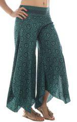 Pantalon original avec pans en pointe asymétrique Satya 291870