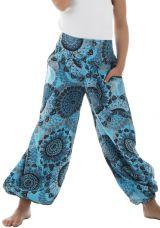 Pantalon original fantaisie coupe droite smocké au dos Perla 294619