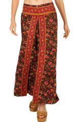 Pantalon original imprimé fleuri chinois pour femme Mina