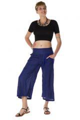 pantalon original large court 3/4 bleu saphir Killiney 288757