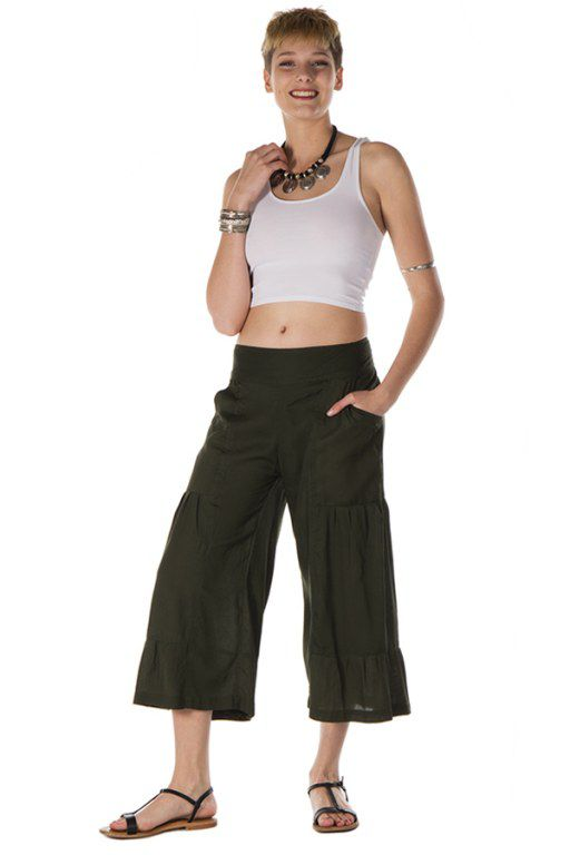 pantalon original large court 3/4 kaki Waterford 288730