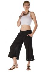 pantalon original large court 3/4 noir Natal 288706