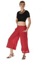 pantalon original large court 3/4 rouge Wicklow 288759
