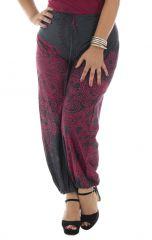 Pantalon original noir grande taille fluide coton Perla 293598