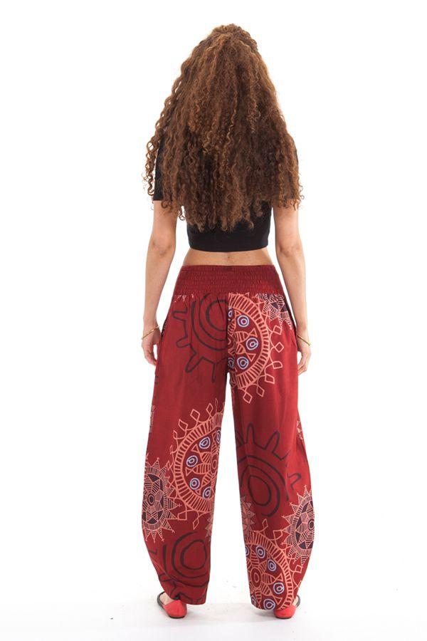pantalon pour femme ideal ete ample et colore paulo rouge grenat. Black Bedroom Furniture Sets. Home Design Ideas
