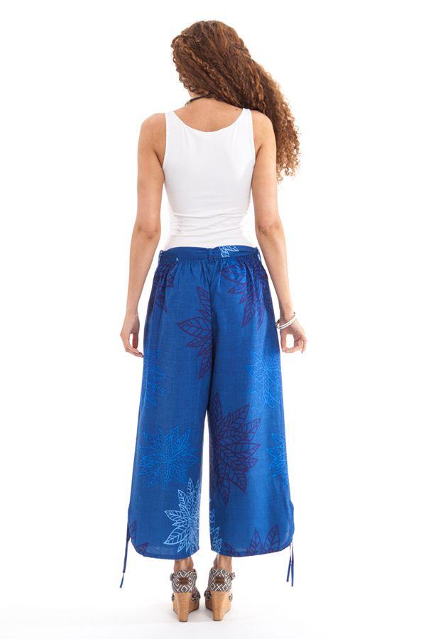 pantalon d ete pour femme ethnique et leger colin bleu. Black Bedroom Furniture Sets. Home Design Ideas