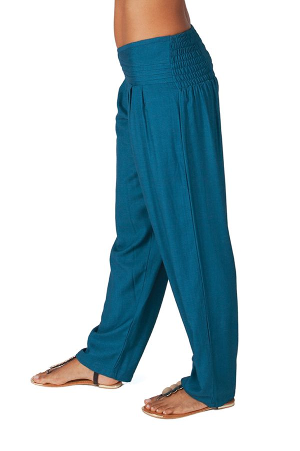 Pantalon Pétrole femme taille basse Ethnique et Original Giulio 282265