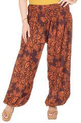 Pantalon plus size coloré coupe bouffante orange Galla 295073