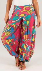 Pantalon pour femme Bouffant et Coloré Nicolas Rose 284141