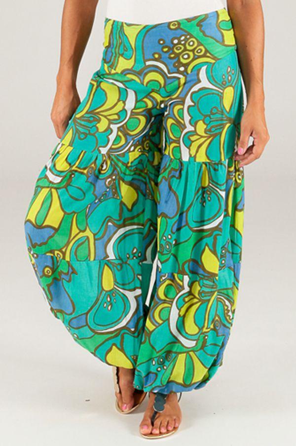 Pantalon pour femme Bouffant et Coloré Nicolas Vert 284143