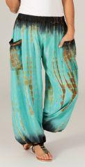 Pantalon pour femme Bouffant et Original Yael Vert d'eau 283559