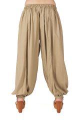 Pantalon pour femme bouffant Sable Ethnique et Original Gilian 282241