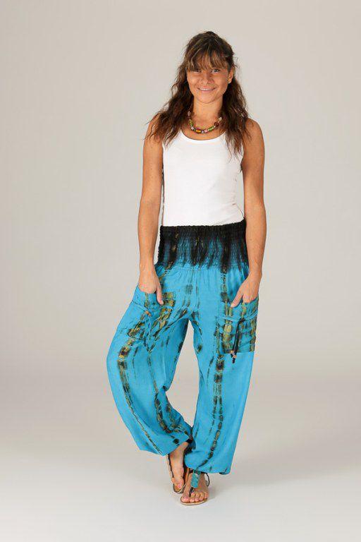 pantalon pour femme colore et baba cool alban bleu. Black Bedroom Furniture Sets. Home Design Ideas