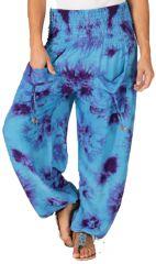 Pantalon pour femme Coloré et Baba Cool Alban Océan 283553