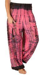 Pantalon pour femme Coloré et Baba Cool Alban Rose 283545