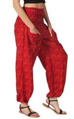 Pantalon pour femme Coloré et Ethnique Mathieu Rouge 283577