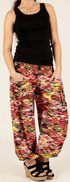 Pantalon pour femme d'été Agréable et Ample Florazi Rouge 277752