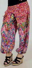 Pantalon pour femme d'été Ample et Agréable Florazi Rose 277747
