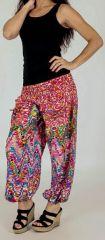 Pantalon pour femme d'été Ample et Agréable Florazi Rose 277748