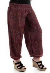 Pantalon pour femme d'été Ample et Agréable Yamaké Bordeaux 283531
