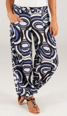 Pantalon pour Femme d'été Ethnique et Original Milan Bleu 283453