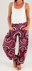 Pantalon pour Femme d'été Ethnique et Original Milan Rose 280307