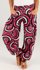 Pantalon pour Femme d'été Ethnique et Original Milan Rose 283452