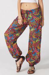 Pantalon pour Femme d'été Multicolore et Ethnique Harold 287094