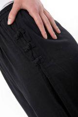 Pantalon pour femme et homme style japonais de couleur noir Azuka