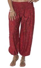 Pantalon pour femme Ethnique et Agréable Natko Grenat 283956