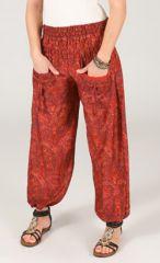 Pantalon pour femme Ethnique et Féminin Volva Rouge 287103