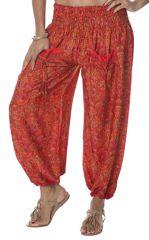 Pantalon pour Femme Ethnique et Fluide à smock Navalan 283961