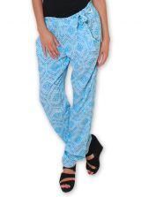 Pantalon pour Femme Ethnique et Original Hally Bleu 276496