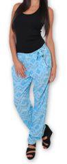 Pantalon pour Femme Ethnique et Original Hally Bleu 276497