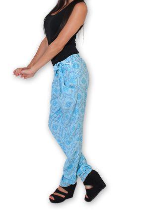 Pantalon pour Femme Ethnique et Original Hally Bleu 276498