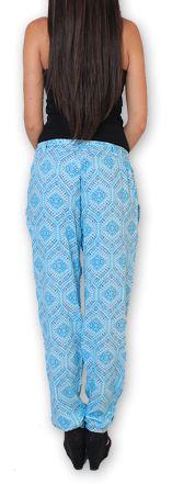 Pantalon pour Femme Ethnique et Original Hally Bleu 276499