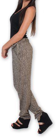 Pantalon pour Femme Ethnique et Original Hally Marron 276494