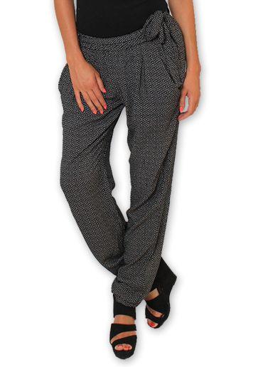 Pantalon pour Femme Ethnique et Original Hally Noir 276488