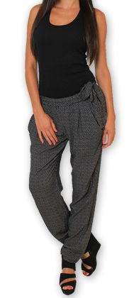 Pantalon pour Femme Ethnique et Original Hally Noir 276489