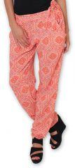 Pantalon pour Femme Ethnique et Original Hally Orange 276504