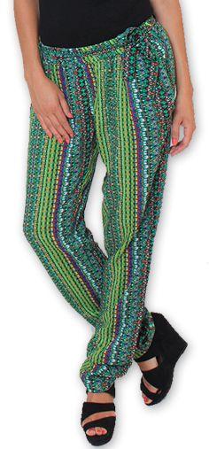 Pantalon pour Femme Ethnique et Original Hally Vert 276508