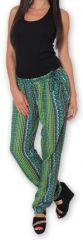 Pantalon pour Femme Ethnique et Original Hally Vert 276509
