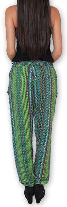 Pantalon pour Femme Ethnique et Original Hally Vert 276511