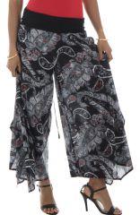 Pantalon pour femme Ethnique Imprimé Paisleys Castello Noir 292289