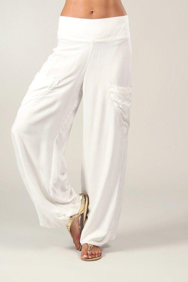 Pantalon pour Femme Fluide et Agréable Cédric Blanc 318542
